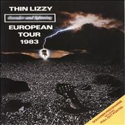 Click here for more info about 'Thin Lizzy - Thunder And Lightning + Poster - Autographed'