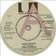 Click here for more info about 'Tina Turner - Acid Queen - A Label'