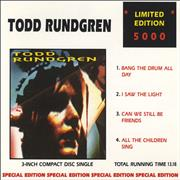 Click here for more info about 'Todd Rundgren - Bang The Drum All Day'