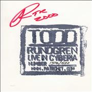 Click here for more info about 'Todd Rundgren - Live In Cyberia - Autographed'