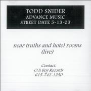 Click here for more info about 'Todd Snider - Near Truths And Hotel Rooms Live'