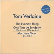 Click here for more info about 'Tom Verlaine - The Funniest Thing - Blue Vinyl'