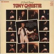 Tony Christie Live UK vinyl LP