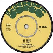 Click here for more info about 'Tony Gordon - Be True'