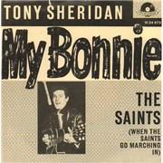 """Tony Sheridan My Bonnie Germany 7"""" vinyl"""