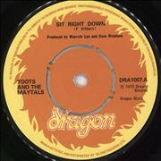 Click here for more info about 'Toots & The Maytals - Sit Right Down'