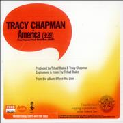 Click here for more info about 'Tracy Chapman - America'
