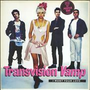 Click here for more info about 'Transvision Vamp - I Want Your Love Poster Sleeve - EX'