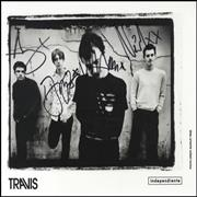 Click here for more info about 'Travis (90s) - Publicity Photograph - Fully Autographed'