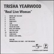 Click here for more info about 'Trisha Yearwood - Real Live Woman'