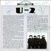 Click here for more info about 'U2 - 1981 Rock On The Tyne Programme - Autographed'