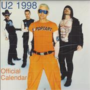 Click here for more info about 'U2 - 1998 Official Calendar'