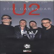 Click here for more info about 'U2 - 2007 Calendar'