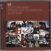 U2 Achtung Baby Interactive Songbook UK CD-ROM