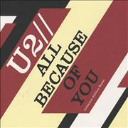 U2 All Because Of You - Collectors Edition UK 3-disc CD/DVD Set