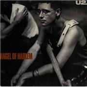 "U2 Angel Of Harlem - Blue Vinyl - EX Australia 7"" vinyl"