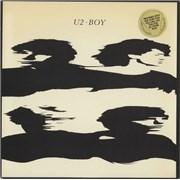 U2 Boy - Promo sticker USA vinyl LP