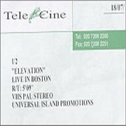 Click here for more info about 'U2 - Elevation - Live In Boston'