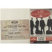 U2 Elevation Tour - Two Ticket Stubs UK concert ticket