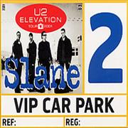 Click here for more info about 'Elevation Tour 2001 Slane Concert VIP Car Park Pass'
