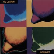 Click here for more info about 'U2 - Lemon Remixes - Yellow Vinyl - EX'