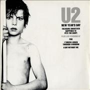Click here for more info about 'U2 - New Year's Day - Double Pack - EX'