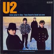 "U2 New Year's Day - EX France 12"" vinyl"