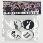 Click here for more info about 'U2 - No Line On The Horizon - Set Of Four Promo Badges'