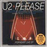 Click here for more info about 'U2 - Popheart Live EP - Stickered + Insert'