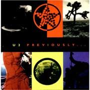 U2 Previously... USA CD album Promo