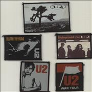 Click here for more info about 'U2 - Quantity of Five Embroidered Sew-On Patches'