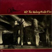 Click here for more info about 'U2 - The Unforgettable Fire - Fully Autographed'