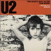 Click here for more info about 'U2 - Two Hearts Beat As One - P/S'