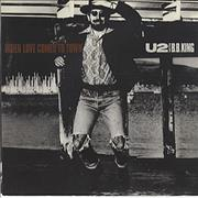 "U2 When Love Comes To Town USA 7"" vinyl"