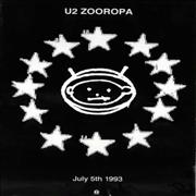 Click here for more info about 'Zooropa - July 5th 1993'