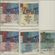 Click here for more info about 'U2 - Zooropa '93 - Set of Five Laminated Ticket Stubs'