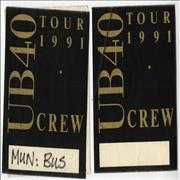 Click here for more info about 'UB40 - 1991 Tour - 2 x Satin Passes'
