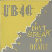 Click here for more info about 'UB40 - Don't Break My Heart + Sleeve'