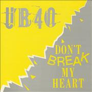 Click here for more info about 'UB40 - Don't Break My Heart'