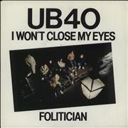 Click here for more info about 'UB40 - I Won't Close My Eyes'