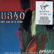 Click here for more info about 'UB40 - Tell Me Is It True'
