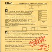 Click here for more info about 'UB40 - The Earth Dies Screaming / Dream A Lie + P/S'