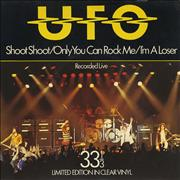 Click here for more info about 'UFO - Shoot Shoot - Clear Vinyl + P/S'