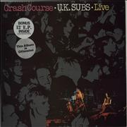 Click here for more info about 'U.K. Subs - Crash Course - Purple Vinyl + 12