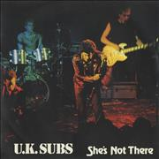 Click here for more info about 'U.K. Subs - She's Not There EP - Green Vinyl'