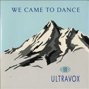 Click here for more info about 'Ultravox - We Came To Dance - Clear Vinyl'