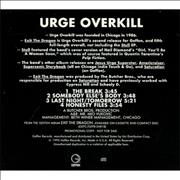 Click here for more info about 'Urge Overkill - 4 Cut Sampler'