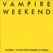 Click here for more info about 'Vampire Weekend - Cape Cod Kwassa Kwassa / A-Punk'