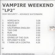 Click here for more info about 'Vampire Weekend - LP2'