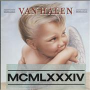 Van Halen MCMLXXXIV - Stickered Germany vinyl LP